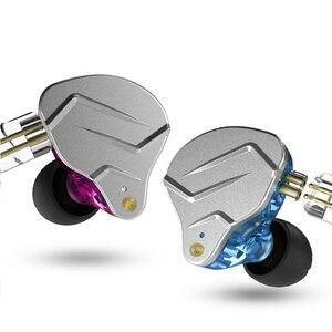 Image 2 - KZ ZSN פרו מתכת אוזניות 1BA + 1DD היברידי טכנולוגיה HIFI בס אוזניות באוזן צג אוזניות ספורט רעש ביטול