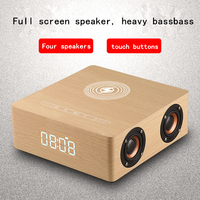 Q5A multi function wireless charger alarm clock bluetooth speaker suitable for iPhone stereo music player music surround sound