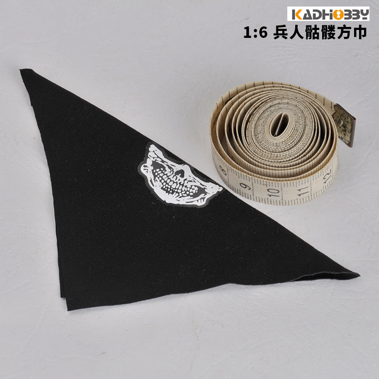 [New Style] 1/6 Trend Men And Women Soldier Model Skeleton Face Towel Kerchief Scarf Soldiers Parts