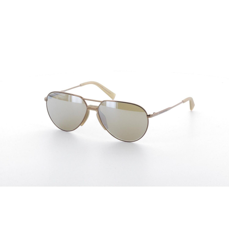 Unisex sunglasses ez 0096 34g metal brown crystal drop pilot 59-14-140 ermenegildo zegna