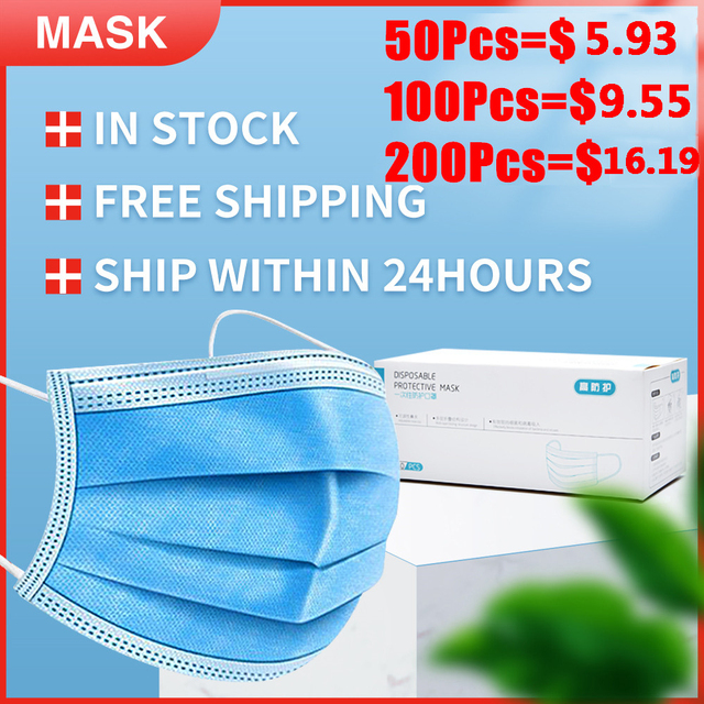 3 Layers Filter Disposable Surgical Mask Non-woven Safety Medical Face Mask Anti-pollution Flu Protection Mouth Nose