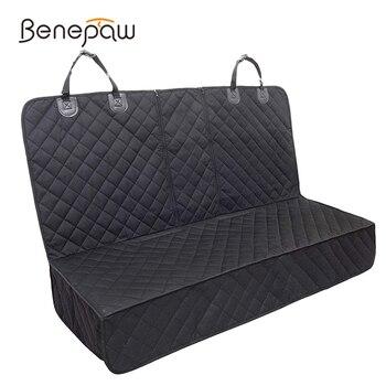 Benepaw Bite Resistant Nylon Dog Car Seat Cover Central Armrest Compatible Antislip Waterproof Pet Travel Car Seat Protector