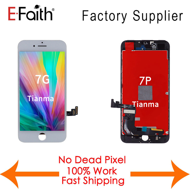 100 Tianma 20PCS Lot LCD For iPhone 7 7G or 7 Plus display Replacement Touch Screen