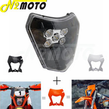 Motocross enduro led farol máscara capa para 125 150 250 300 350 400 450 500 sx xc SX-F XC-W exc 530 XC-W seis dias