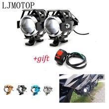 Moto 12V LED phares lampe auxiliaire U5 projecteur moto pour Yamaha FZ1 FAZER YZF R 3 25 6 600R FZR 600 TRX850 FZR400