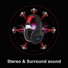 Usb7.1 sem fio gaming headset gamer fones de ouvido 7.1 surround som estéreo usb microfone jogos de vídeo ps4 pc gamer