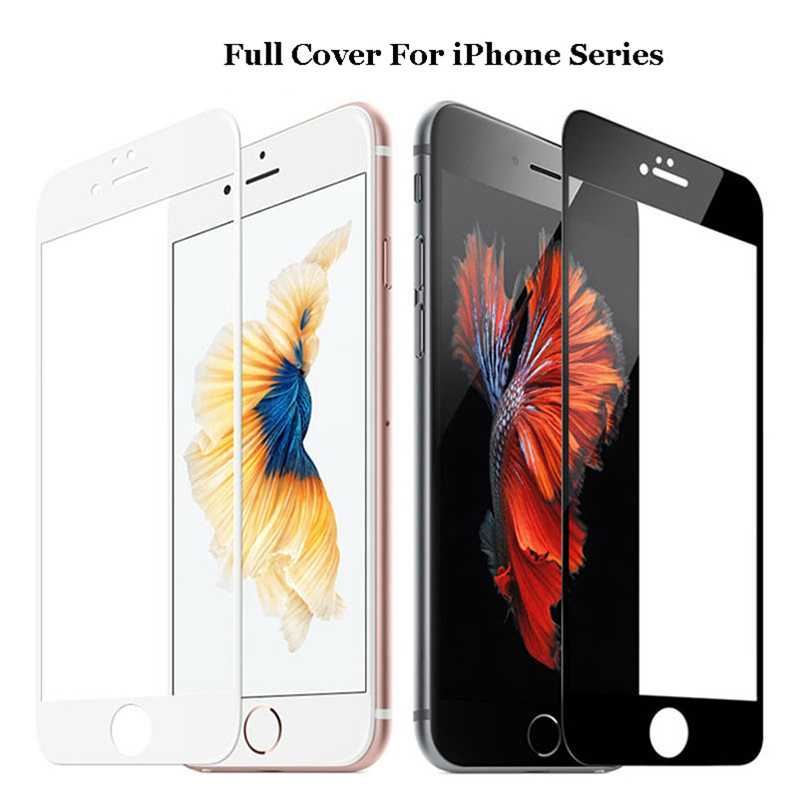 9H Protective Glass For iphone 7 8 X 11 Pro Max Screen Protector for iphone 4 4s 5 5s 5c SE 6 6s plus 7 7S 7plus Tempered Glass(China)