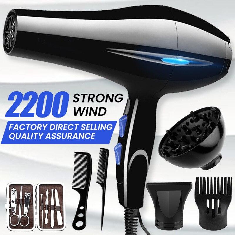 חדש 220V מקצועי שיער מייבש חזק כוח בארבר סלון סטיילינג כלים חם/קר אוויר לפוצץ מייבש למכוני ומשק בית