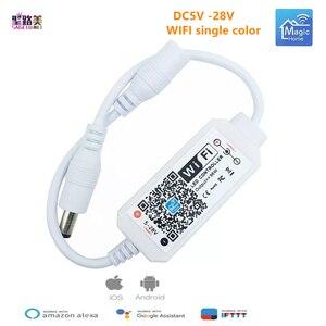 Image 2 - קסם בית DC5V 12V 24V Bluetooth אלחוטי WiFi בקר, RGB/RGBW IR RF LED בקר עבור 5050 WS2811 WS2812B פיקסל led רצועת