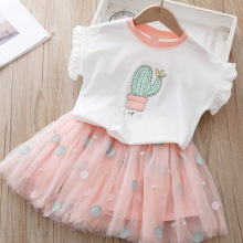 Kids Girls Clothing Sets Summer Outfits For Baby Girl Clothes Suits  Short Sleeve Printing T-Shirt Skirt 2Pcs Baby Girl Set winter baby girl clothes set kids clothing sets thick warm baby coats pants 2pcs kids suits flower toddler baby clothes outfits