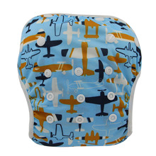 Swim Diapers Pant Cover-Suit Adjustable Baby Waterproof Cute Unisex for 3-15KG One-Size