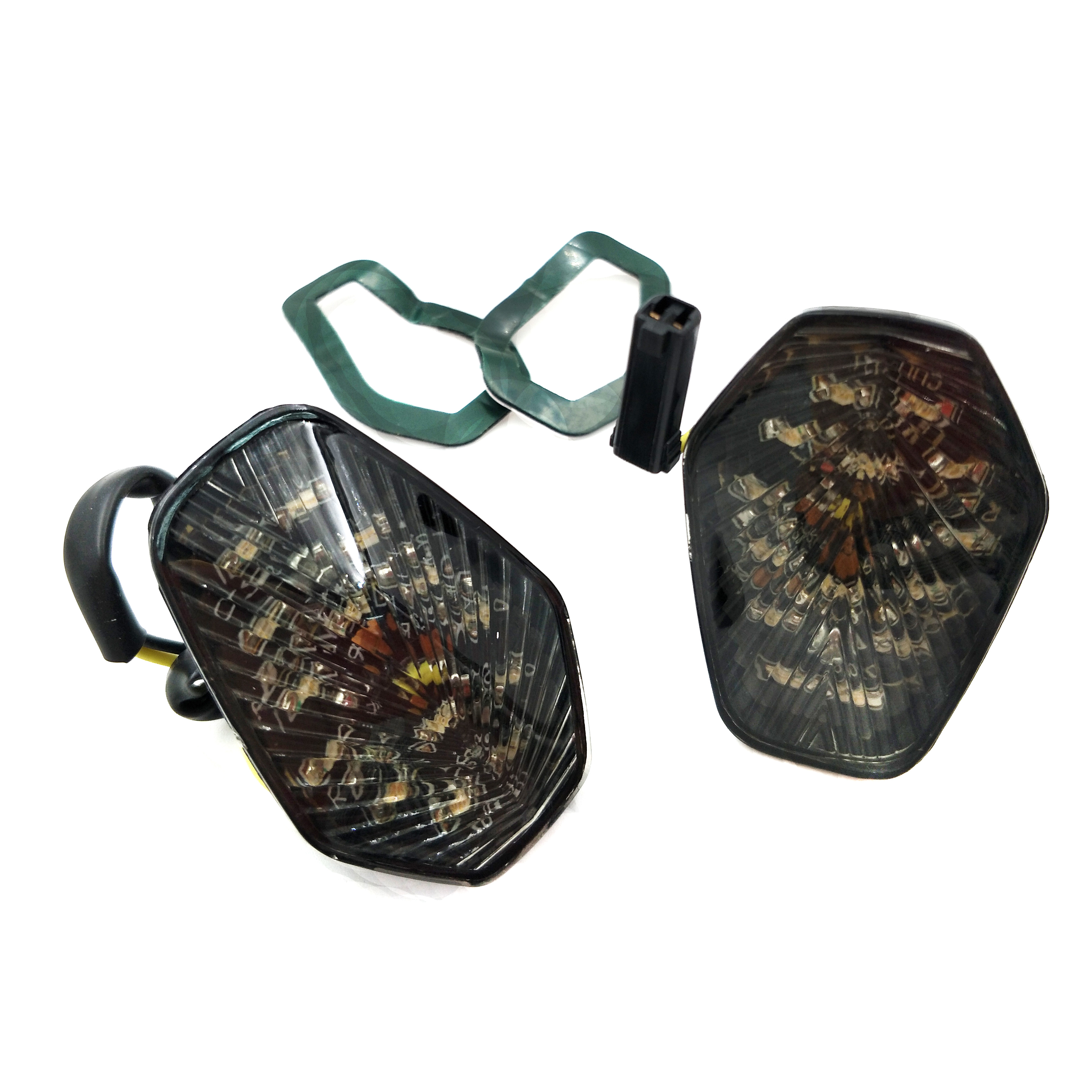 Aftermarket free shipping motorcycle parts LED Turn Signal <font><b>lights</b></font> for suzuki <font><b>GSXR</b></font> <font><b>600</b></font> 750 1000 2001 2002 2003 2004 Smoke image