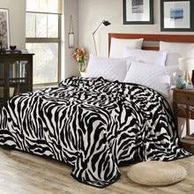 Jane girando zebra listrado velo cobertor fuzzy super confortável macio floral cobertor jogado camas avião sofá para escritório