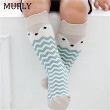 Newborn Kids Girl Boy socks Animal Pattern Anti-slip Knee High Sock Baby Fox Cat Cotton Cute Cartoon Infant Toddler socks