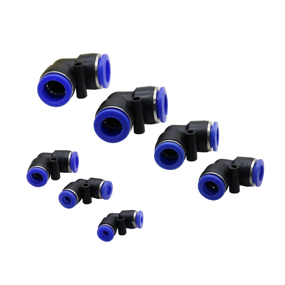 Pneumatic Elbow Union Connector 4mm 6mm 8mm 10mm 12mm 14mm 16mm OD Hose Tube Pipe Slip Lock Plastic Gas Quick Fitting L Shape