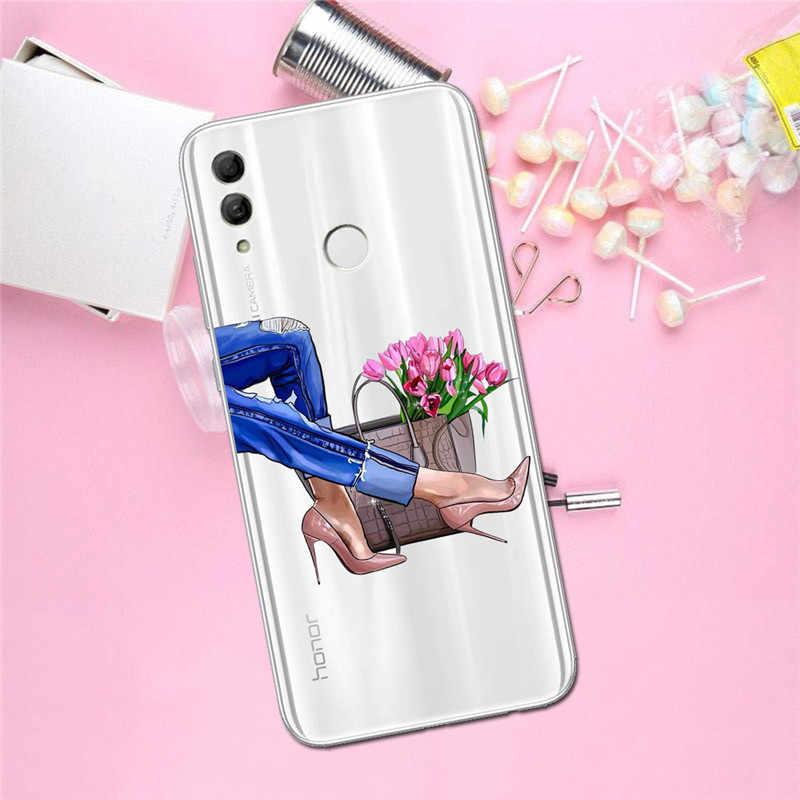 女 Huawei 社メイト 30 プロ Lite 名誉 9X 電話ケースカバー Funda Coque 小箱キャパギフトシェル Capinha コーヒーファッションかわいい