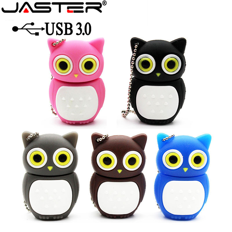 JASTER USB 3.0 Novel Lovely Owl USB Flash Drive Pen Drive Pendrive 4GB 8GB 16GB 32GB 64GB Cartoon Bird Memory Stick U Disk
