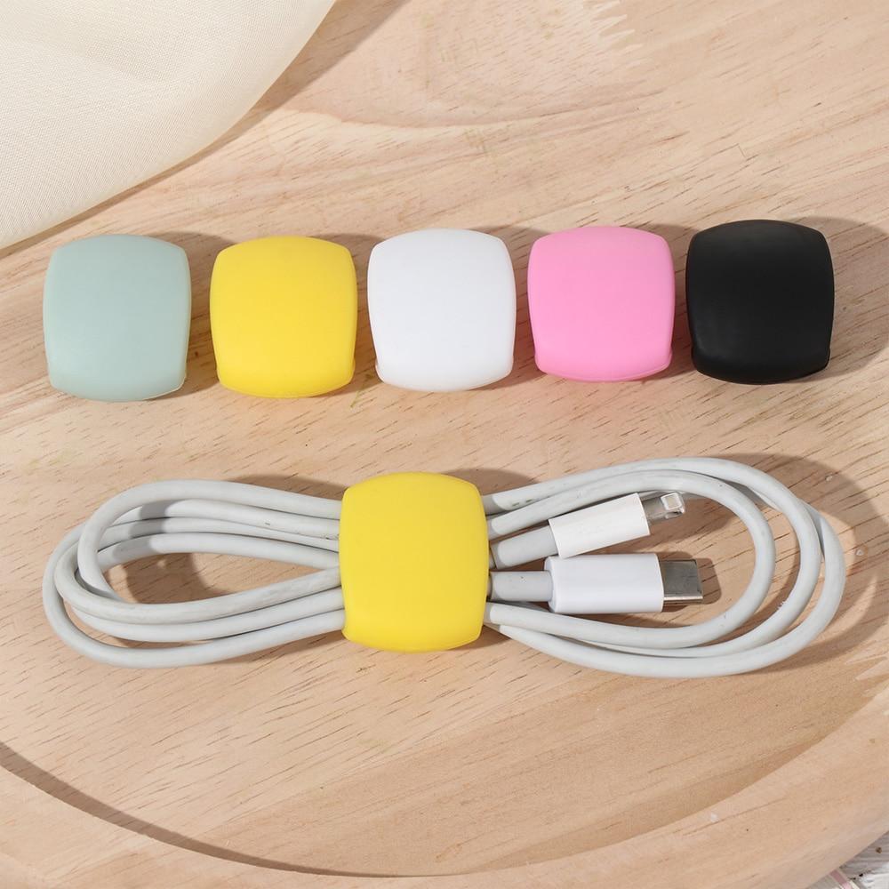 Маленькая намотка для кабеля 2 шт., модный Настольный органайзер, настольный декоративный портативный дорожный держатель для зарядного уст...