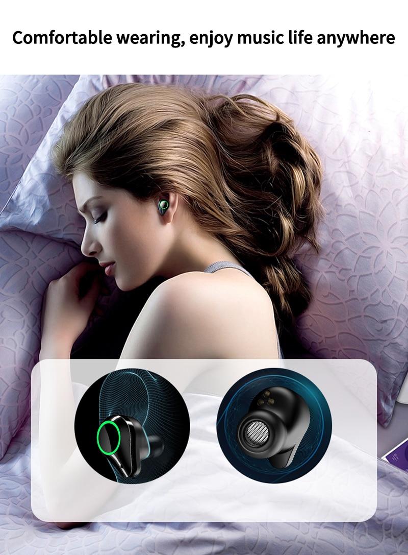 TOMKAS 8000mAh TWS Earphones 9D Stereo Bluetooth 5.0 Wireless Earphones IPX7 Waterproof Headphone LED Display with Mic Touch Key (10)