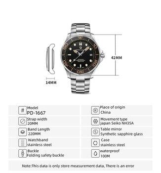 2021 New PAGANI DESIGN Men's Mechanical Wristwatches Luxury Automatic Watch For Men Luminous Diving Steel Watch Japan NH35 Clock 5