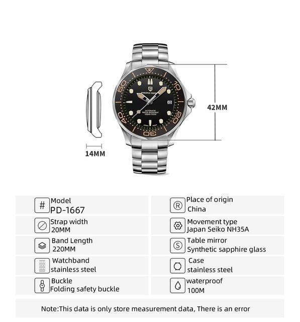 2021 New PAGANI DESIGN 007 Men's Mechanical Watches Brand Luxury Automatic Watch Men Waterproof Wristwatch Japan NH35 Clock man 6