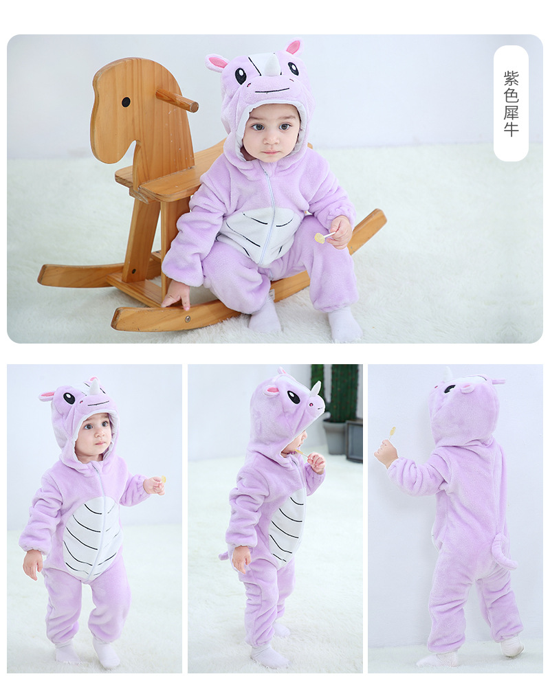 Baby Rompers Winter Kigurumi Lion Costume For Girls Boys Toddler Animal Jumpsuit Infant Clothes Pyjamas Kids Overalls ropa bebes | Happy Baby Mama