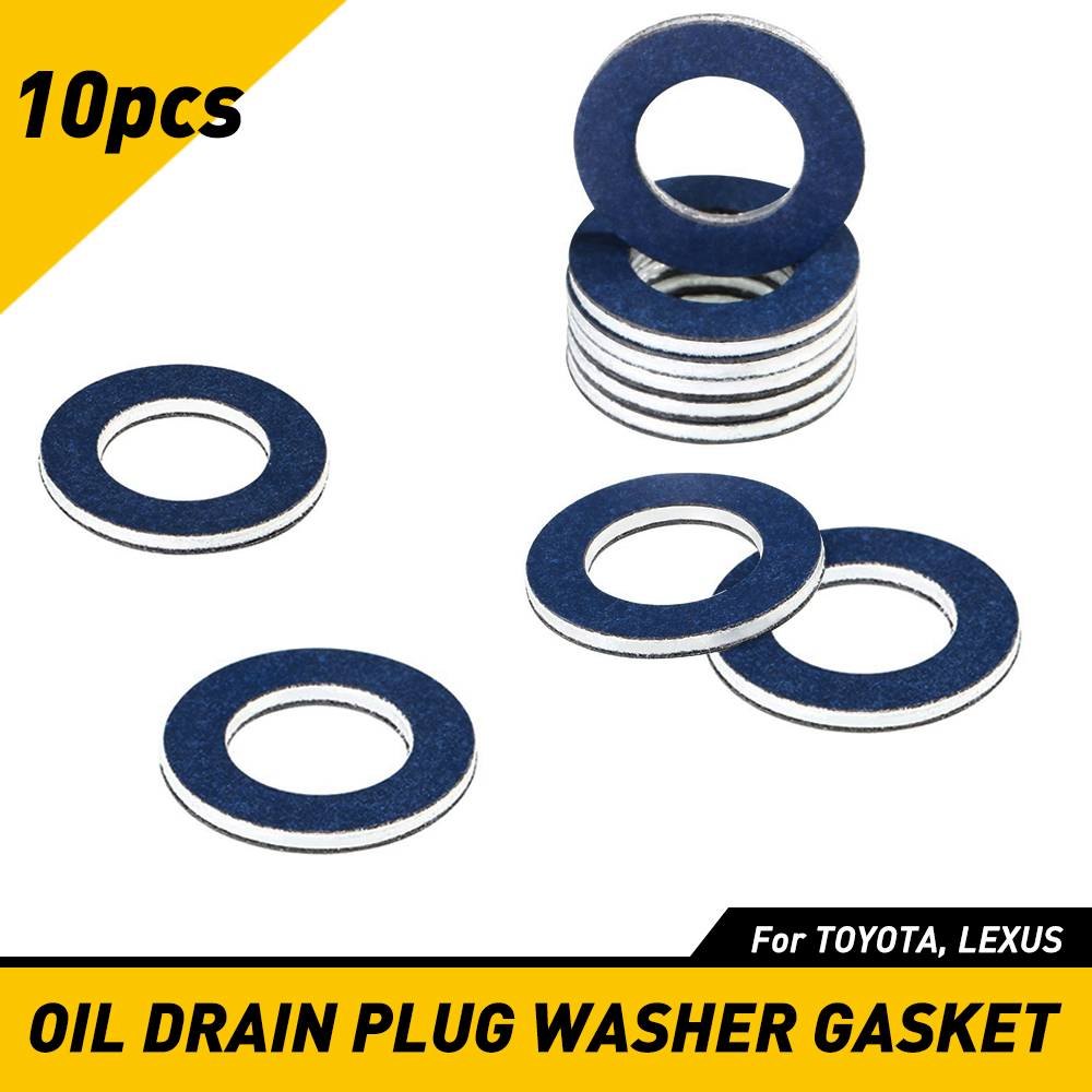 10x Auto Oil Drain Plug Washer Gasket Fit For Toyota Camry Corolla ...