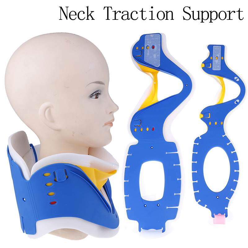 Adult/Child Medical Neck Collar Breathable Neck Traction Support Brace Adjustable Strecher Therapy Tractor Orthosis Braces(China)