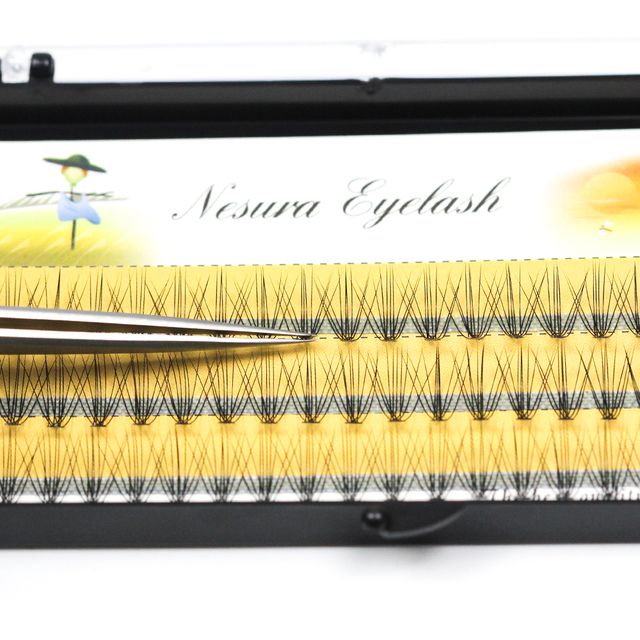 60 sheet 10 root Professional Makeup Personal Eyelashes Grafting Eyelashes Mink  Eyelashes Natural Curly Makeup Eyelash Tool 2