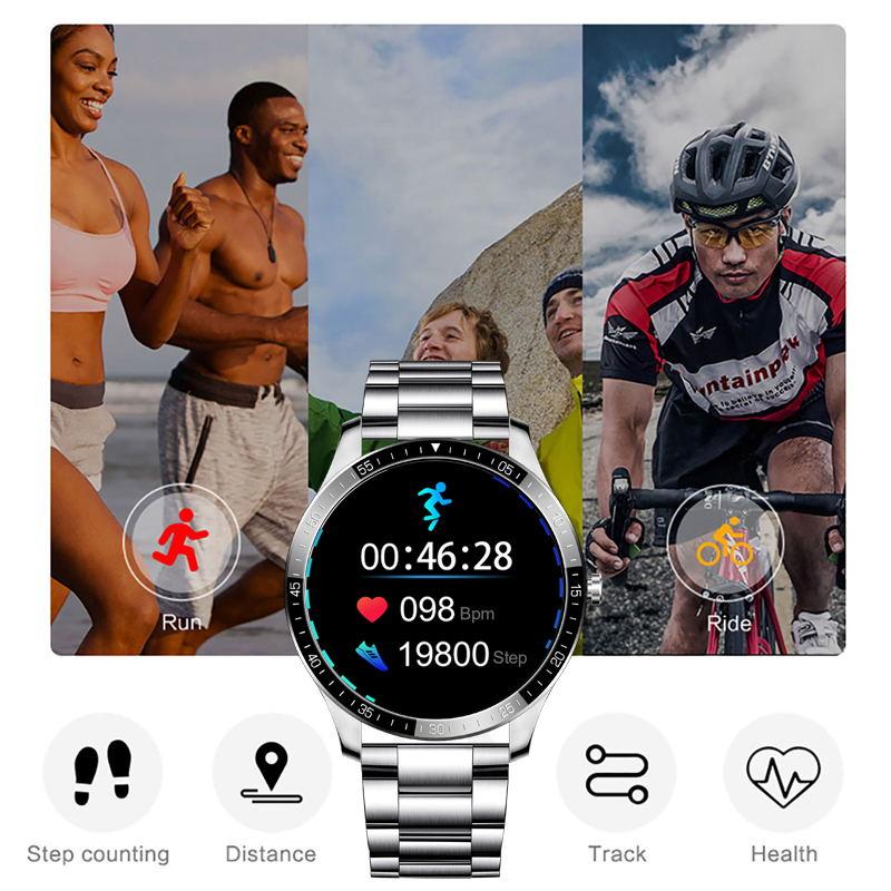 """LIGE New Smart watch Men waterproof 1.3"""" Full touch screen Sports Smart watch heart rate Fitness tracker Men Smart Watch Women 5"""