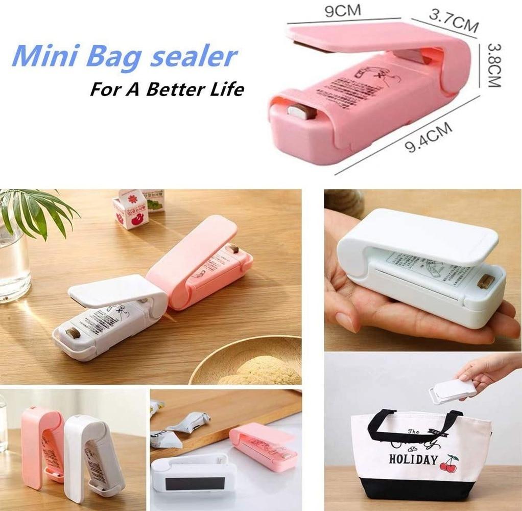 Heat Bag Sealer Plastic Bag Sealer Mini Heat Sealer Machine for Food Saver Storage Snack Fresh Handheld Portable Resealer 2 PACK