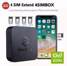 Internacional glocalme 4simbox multi adaptar 4 sim duplo standby 4g nenhum roaming para ios android