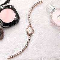 Reloj Mujer 2018 Women Luxury Watch Rose Diamond Women Bracelet Watches Ladies Hour Montre Femme Luxe Damen Uhren Dropship