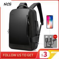 Hohe qualität BOPAI Marke Vergrößern USB Externe Lade 15,6 Zoll Laptop Schultern Männer USB Anti-Diebstahl Wasserdichte Reise Rucksack