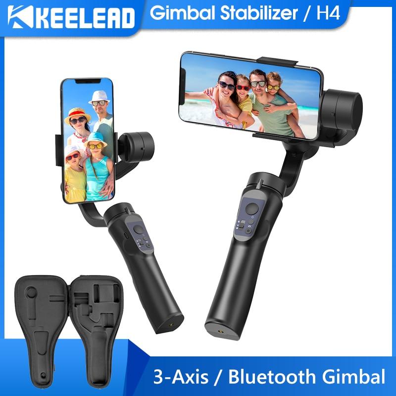 Keelead Gimbal H4 3 оси с функцией видеозаписи, Поддержка универсальное Регулируемое направление ручной карданный стабилизатор для смартфона Vlog