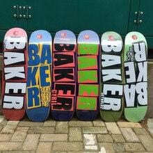 Padeiro skate 8.0 Polegada placa de skate em forma de u 7 camadas canadá madeira deck três camadas tingimento alta qualidade skate board