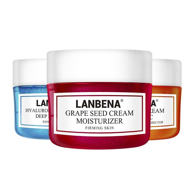 LANBENA Face Cream Vitamin C Hyaluronic Acid Anti Wrinkle Anti Aging Moisturizing Serum Acne Treatment Whitening Facial Cream