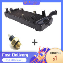 For Honda Shadow VT600 Steed 400 600 VLX 400 600 Accessories Motorcycle Water Tank Radiator Cooler With Sensor