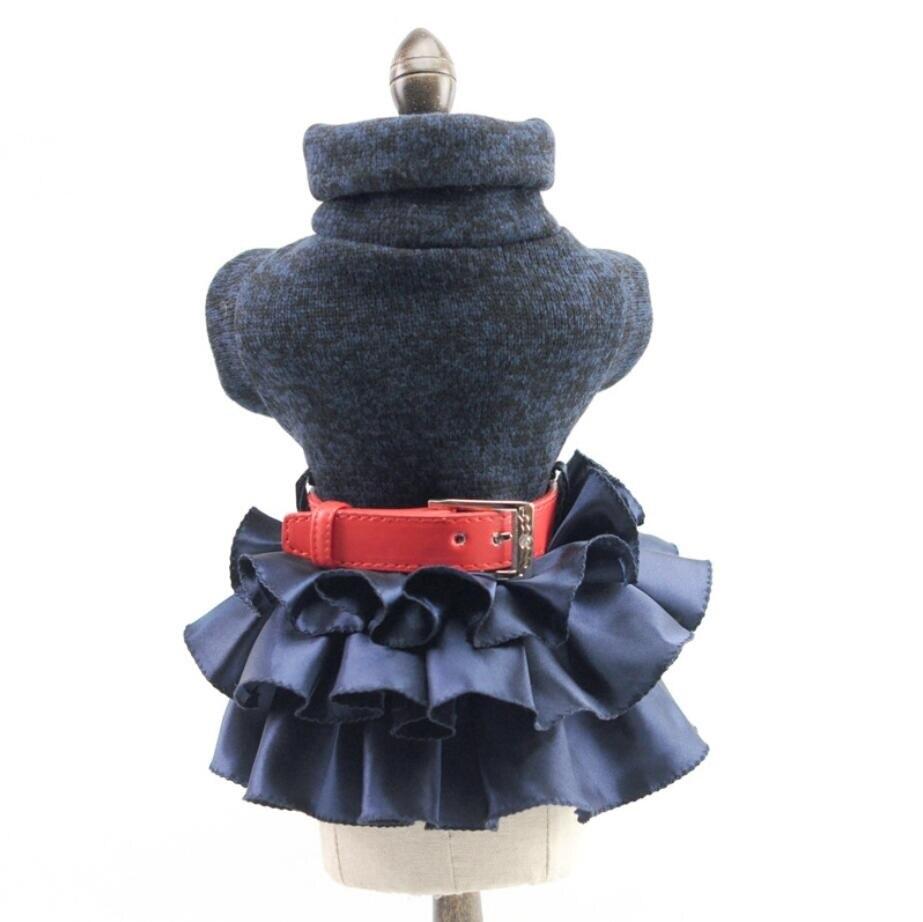 Clothing Dogs Warm Turtneck Knitted Sweater with Tutu Skirt Dress  My Pet World Store