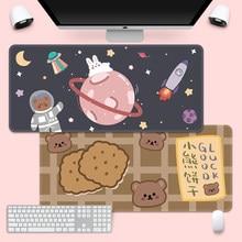 Sevimli Mouse Pad süper yaratıcı INS-gelgit büyük oyun bilgisayar klavye ofis LongTable Mat Kawaii masa onteen kızlar yatak odası için