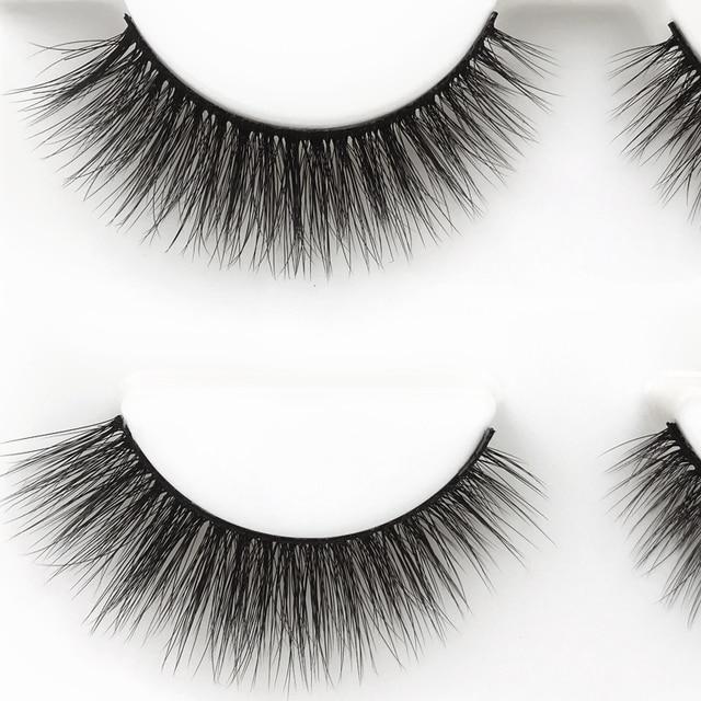 SHIDISHANGPIN 3 pairs 29 styles 3D Faux Mink Hair Soft False Eyelashes Fluffy Wispy Thick Lashes Handmade Lash Eye Makeup Tools 3