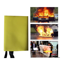 1M x 1M Sealed Fire Blanket Fighting Fire Extinguishers Tent Boat Emergency Blanket Survival Fire Shelter Safety Cover Yellow