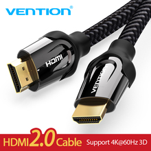 Vention HDMI Cable HDMI to HDMI cable HDMI 2.0 4k 3D 60FPS Cable for HD TV LCD Laptop PS3 Projector Computer Cable  1m 2m 3m 5m xiaomi mi band 4