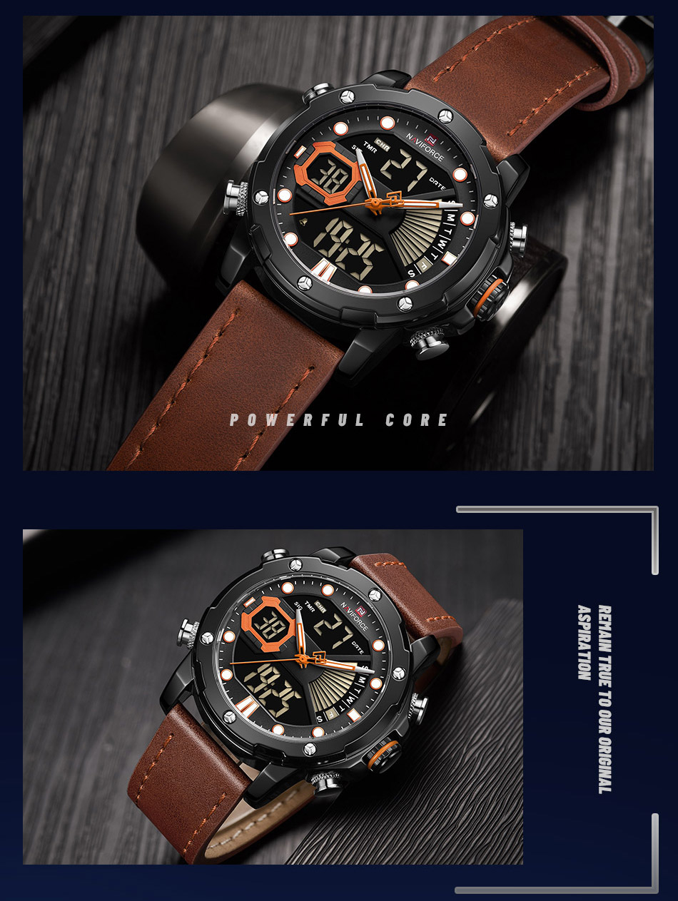 NAVIFORCE NF 9172 Military Dual-Time Watch 7