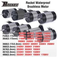Rocket 2845 F540 3650, 3660, 3665, 3670, 3674, 4068 impermeable sin escobillas Sensorless Motor para Traxxas WLtoys 10428, 12428 de 1/12 RC Coche
