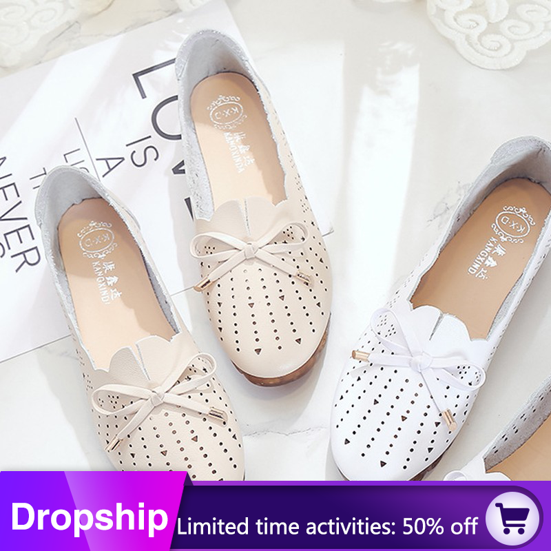 Women Shoes Loafers Women Flats Moccasins Shoes Woman Genuine Leather Shoes Flats Slip On Women's Flat Shoes Zapatos Mujer