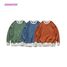 SODAWATER Girl Autumn Women Sweatshirt Oversized Hoodies Harajuku Cotton O Neck Pullover Embroidery Patchwork Streetwear 9604W