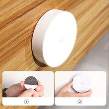 Rechargeable LED Motion Sensor Night Light USB Sensor LED Night Light Wireless Energy-saving LED Body Induction Lamp For Home