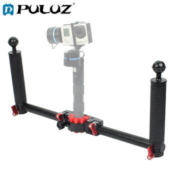 PULUZ Dual Handheld Grip Aluminum Alloy Stabilizer for DJI RONIN-S / MOZA / Zhi Yun / FeiyuTech Gimbal Phone Gimbal Accessories