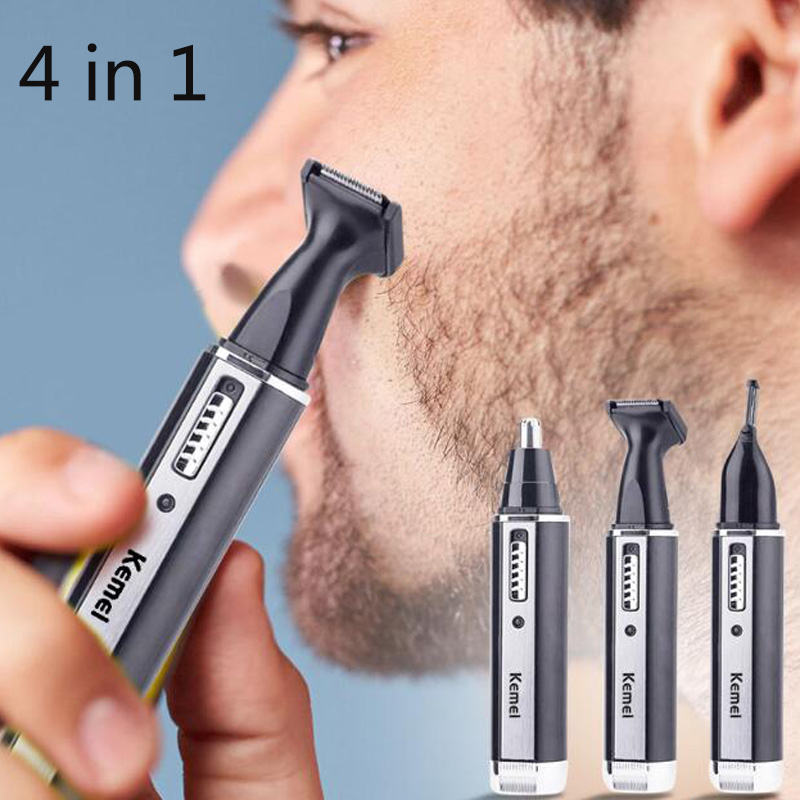 4 In 1 Rechargeable Nose Hair Trimmer For Men's Shaver Ear Face Hair Removal Eyebrow Trimer Safe Lasting Face Care Tool Kit4 In